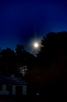 Blue moon over Andover, Maine