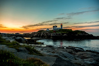 Dawn at Nubble Point Light, York, Maine, July 21, 2013