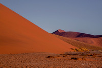 The layers of dunes at Sossusvlei