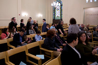 gathering at the synagogue