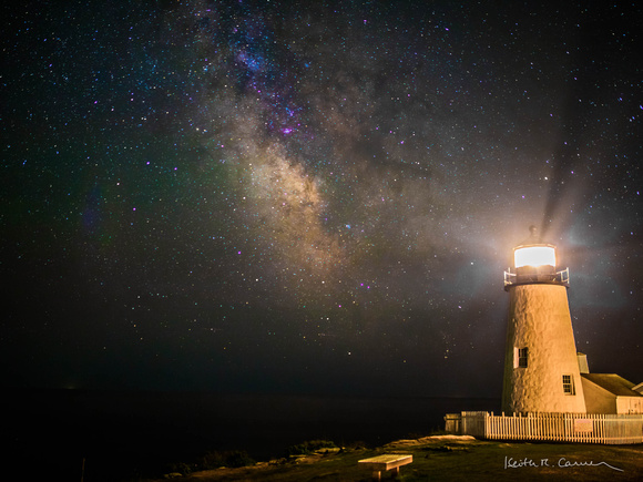 Milky Way and Pemaquid Light