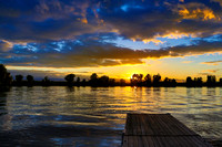 Sunset on Connecticut River from Mitch's Marina - Hadley 6June2014 - 5DM38356-Edit