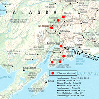 Places visited in Alaska May 2015