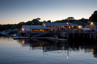 Shaw's Fish and Lobster Wharf Restaurant, dusk, June 27, 2014