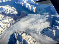 Merging Hubbard and Valerie glaciers, iPhone photo from 30,000 ft.