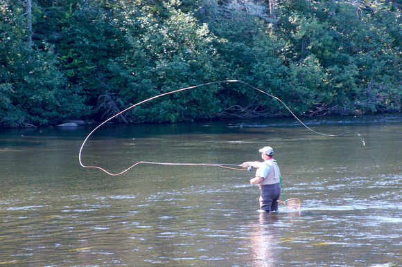 Fly fishing on the Androscoggin