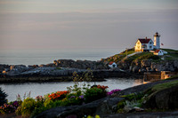 Sunrise at Nubble Point Light, York, Maine, July 21, 2013